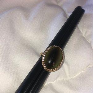 Vintage Sara Coventry Chucky Green Ring